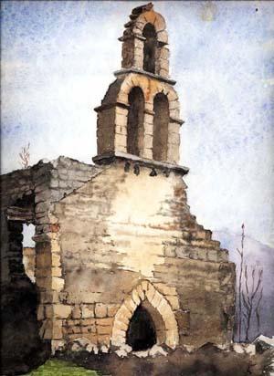 Aquarelle chapelle